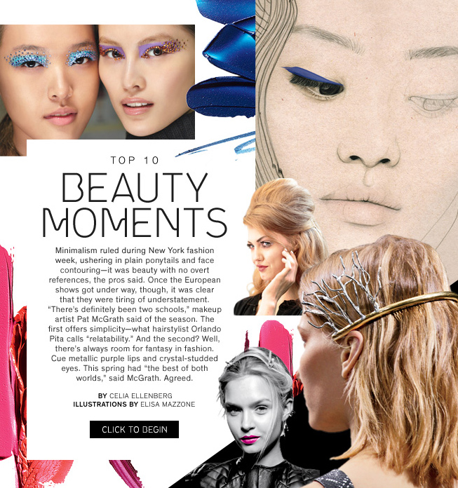 Spring beauty Style.com NYFW