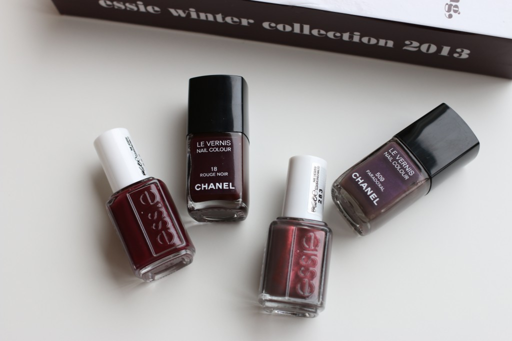 Essie Shearling Darling Chanel Rouge Noir Essie Sable Collar Chanel Paradoxal