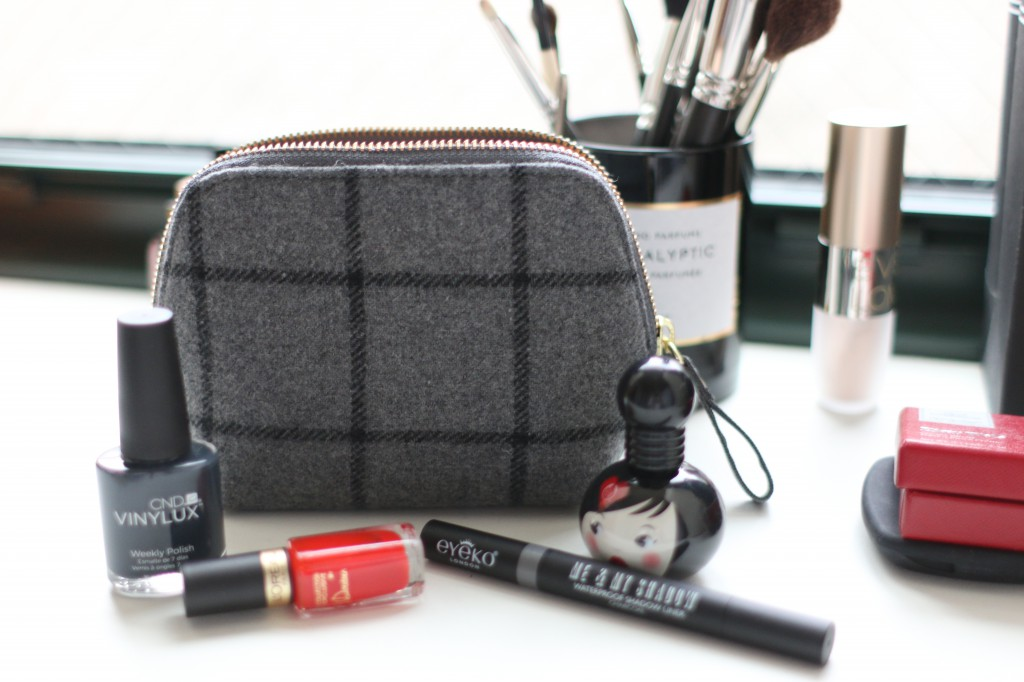 J Crew makeup pouch Vinulux L'Oréal Eyeko The Body Shop