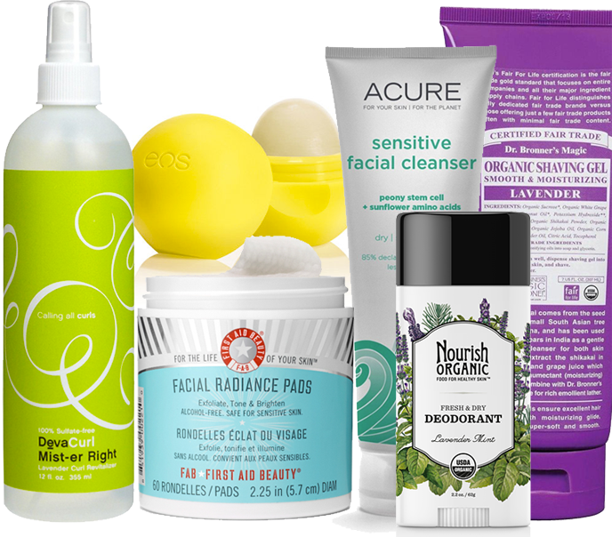 devacurl eos first aid beauty acure nourish dr bronner