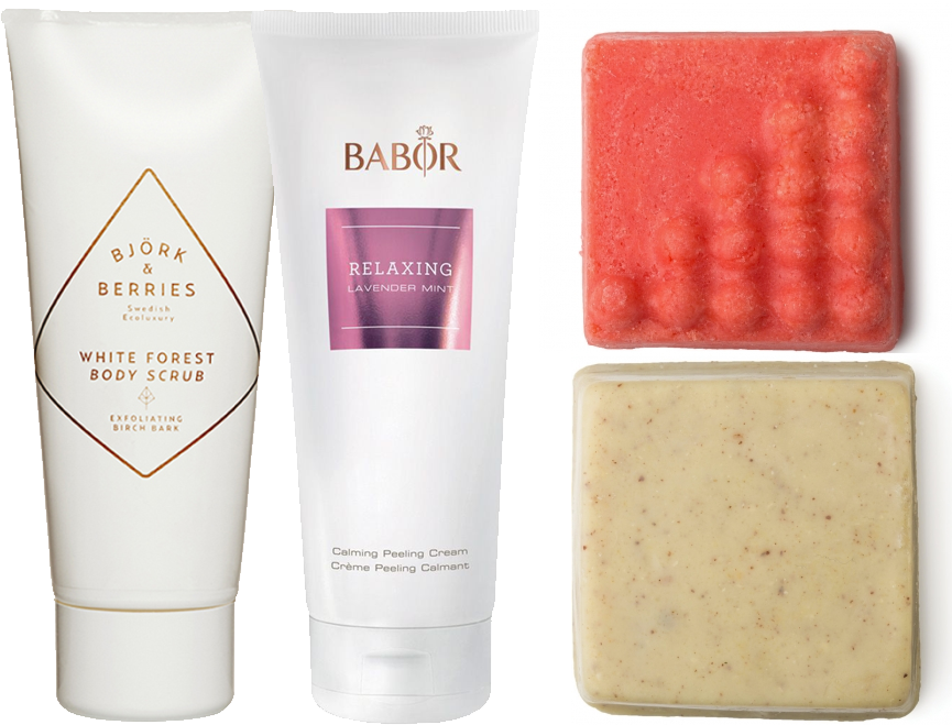 body scrubs björk berries babor lush
